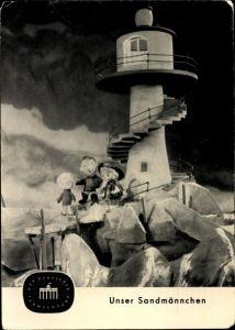 Ak Sandmann, Unser Sandmännchen, DDR Fernsehen, Leuchtturm, S 25/64