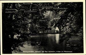 Ak Bad Dürkheim am Pfälzerwald, Waldgaststätte Isenach, Panorama