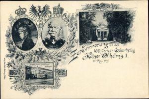 Ak Kaiser Wilhelm I., Zur Erinnerung an den 100jh Geburtstag 1897