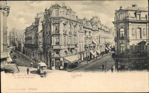 Ak Gent Ostflandern, Rue Digue de Brabant et Rue de Flandre