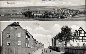 Ak Reudnitz Mohlsdorf Teichwolframsdorf in Thüringen, Totalansicht vom Ort, Siedlung