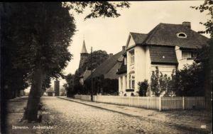 Ak Zarrentin am Schaalsee, Amtsstraße, Straßenpartie