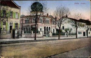 Judaika Ak Delme Delm Moselle, Ansicht der Synagoge, Straßenpartie