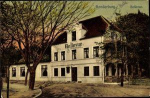Ak Sønderborg Sonderburg Dänemark, Bellevue, Außenansicht