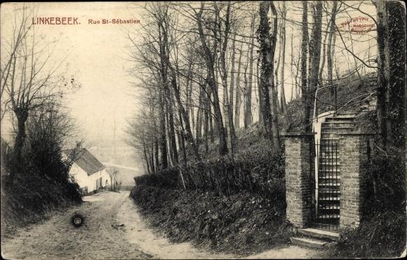 Ak Linkebeek Flandern Flämisch Brabant, Rue St. Sébastien