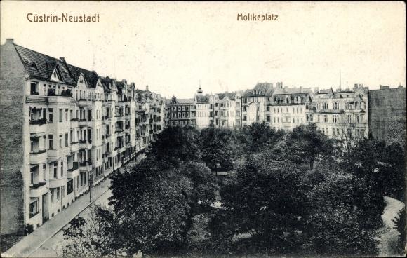 Ak Kostrzyn nad Odrą Cüstrin Neustadt Ostbrandenburg, Moltkeplatz