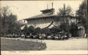 Ak Hamburg Mitte Altstadt, Straßenpartie mit Blick auf den Dammtor Pavillon