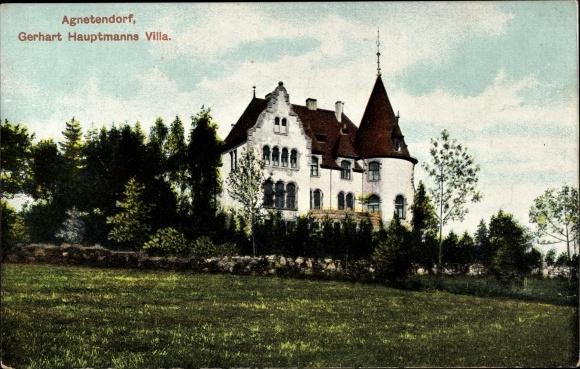 Ak Jagniątków Agnetendorf Hirschberg Schlesien, Gerhart Hauptmanns Villa