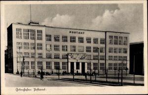 Ak Gdynia Gotenhafen Pommern, Postamt, Vorderansicht