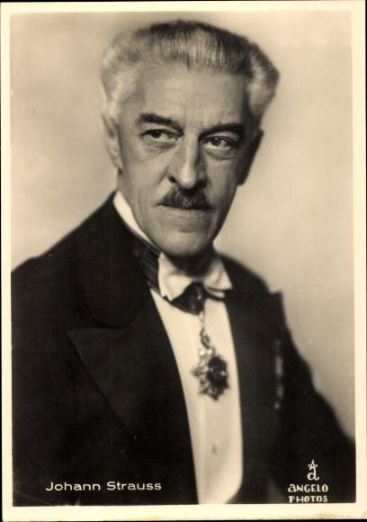 Ak Komponist Johann Strauß Enkel, Portrait, 1866 bis 1939