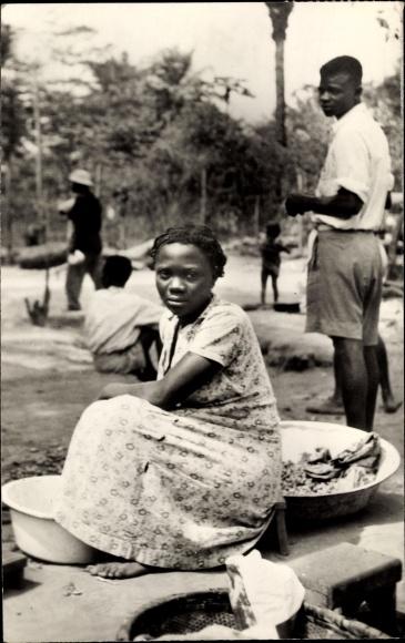 Ak Demokratische Republik Kongo Zaire, Portrait einer Afrikanerin