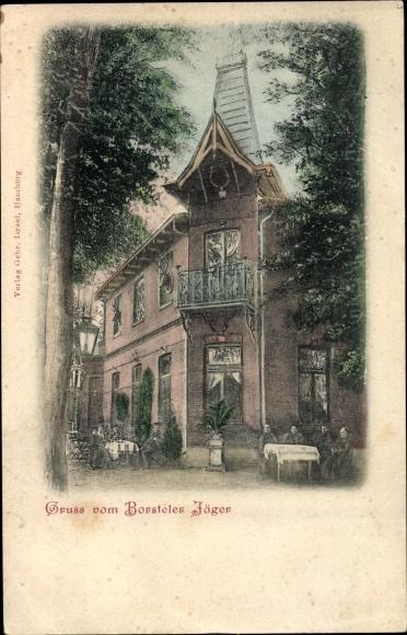 Ak Hamburg Nord Groß Borstel, Gastwirtschaft Borsteler Jäger, Garten
