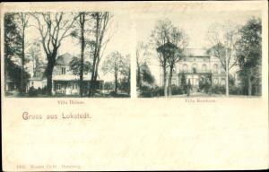 Ak Hamburg Eimsbüttel Lokstedt, Villa Helene, Villa Reumann