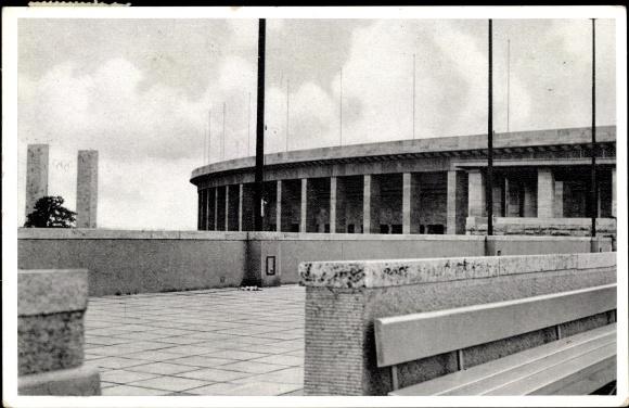 Ak Berlin Charlottenburg Westend, Reichssportfeld, Schwimmstadion, Osttor, Olympia 1936