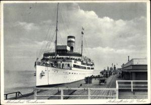 Ak Cuxhaven in Niedersachsen, Seebäderschiff Cobra, HAPAG