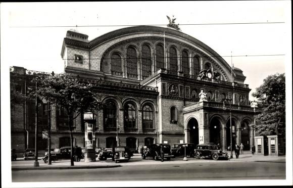 Foto Ak Berlin Kreuzberg, Partie am Anhalter Bahnhof, Straßenseite