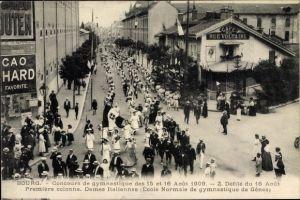 Ak Bourg de Thizy Rhône, Concours de Gymnastique des 15 et 16 Aout 1909