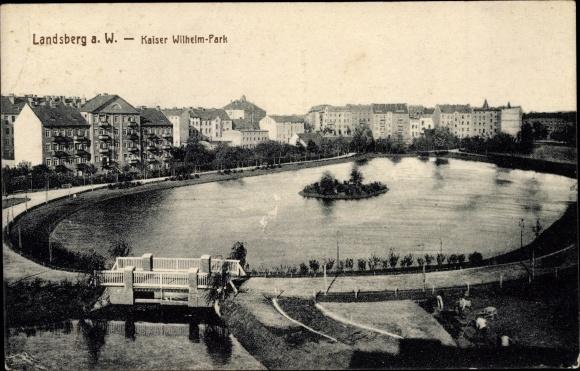 Ak Gorzów Wielkopolski Landsberg Warthe Ostbrandenburg, Kaiser Wilhelm Park