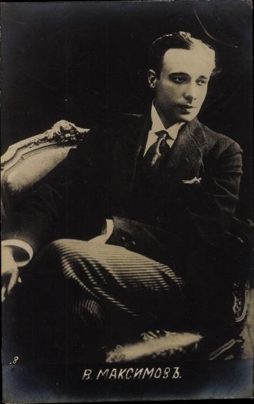 Foto Ak Russischer Schauspieler? W. Maksimow, Portrait