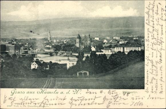 Ak Hameln in Niedersachsen, Klütpartie, Panoramablick auf die Stadt