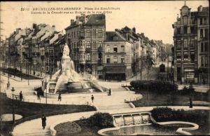 Ak Schaerbeek Brüssel, Place des Bienfaiteurs, Entrée de la Grande Rue au Bois et de la Rue Artan