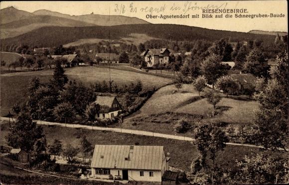 Ak Jagniątków Agnetendorf Hirschberg Schlesien, Blick auf die Schneegruben Baude
