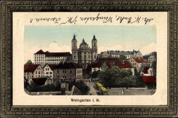 Präge Passepartout Ak Weingarten in Württemberg, Kloster