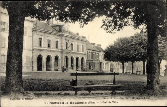 Ak Nanteuil le Haudouin Oise, Hôtel de Ville, Rathaus