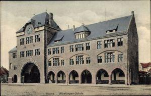 Ak Worms in Rheinland Pfalz, Nibelungenschule, Außenansicht