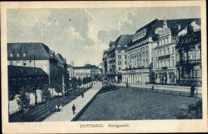 Ak Dortmund im Ruhrgebiet, Königswall, Straßenpartie