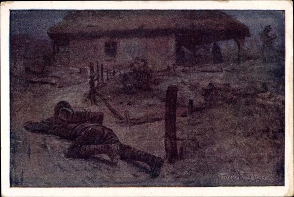 Künstler Ak Aus dem goldenen Buche der Armee, Zugsführer Titular, Feldwebel Anton Zarff