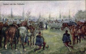 Künstler Ak Gebet vor der Schlacht, Kuk Soldaten, BKWI 259-28