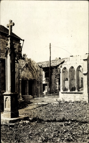 Foto Ak Vigneulles lès Hattonchâtel Lothringen Meuse, Kriegszerstörungen, I. WK