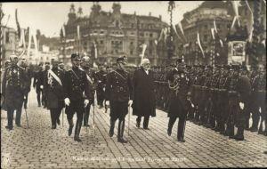 Ak Zürich Stadt Schweiz, Kaiser Wilhelm II., Präsident Forrer, NPG 4486