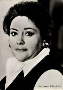 Ak Schauspielerin Marianne Wünscher, Portrait, Progress Starfoto