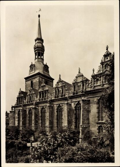 Ak Wolfenbüttel in Niedersachsen, Blick auf die Südfront von der Hauptkirche St. Marien