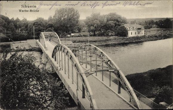 Ak Skwierzyna Schwerin Warthe Ostbrandenburg, Warthebrücke