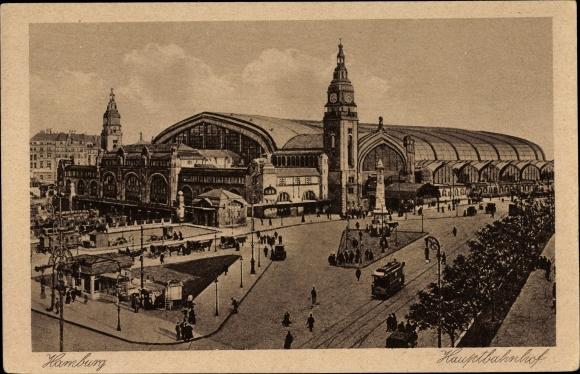 Ak Hamburg, Partie am Hauptbahnhof