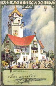 Künstler Ak Schwabe, H., Nürnberg in Mittelfranken Bayern, Partie beim Volksfest