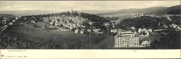 Klapp Ak Königstein im Taunus Hessen, Panorama von Stadt und Umgebung