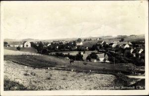 Ak Altbernsdorf Bernstadt auf dem Eigen, Panoramablick über den Ort, Felder