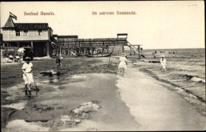 Ak Ostseebad Bansin Heringsdorf auf Usedom, Partie am Strand