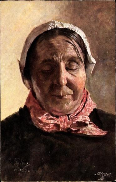Künstler Ak Skarbina, Franz, Flämische Fischerfrau, Tuck Serie III No 1202 B, Portrait