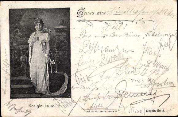 Ak Königin Luise von Mecklenburg Strelitz, Luise von Preußen, Standportrait