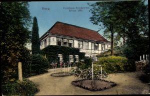 Ak Bad Iburg in Niedersachsen, Forsthaus Freudenthal mit Garten, erbaut 1595