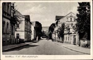 Ak Wilthen im Kreis Bautzen Sachsen, Blick in die Bahnhofstraße