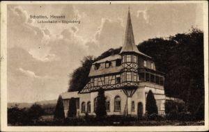 Ak Schotten in Hessen, Lehrerheim Vogelsberg am Waldrand