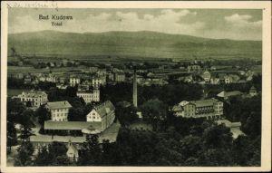 Ak Kudowa Zdrój Bad Kudowa Schlesien, Panoramablick über Stadt und Umgebung