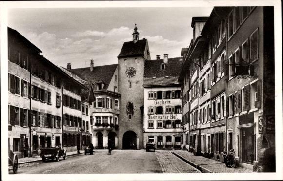 Ak Waldshut Tiengen am Hochrhein Baden Wüttemberg, Unteres Tor, Gasthaus Rheinischer Hof