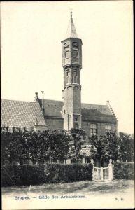 Ak Bruges Brügge Flandern Westflandern, Gilde des Arbalétriers